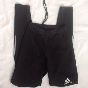 Adidas black running legging sz S drawstring inner